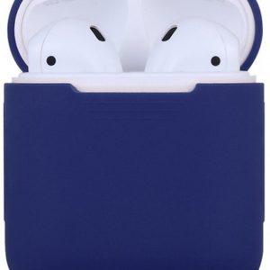 Siliconen case   geschikt voor airpods  donker blauw