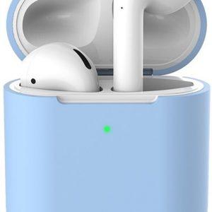 Siliconen case   geschikt voor airpods   pastel blauw