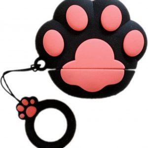 Airpods Hoesje   Airpods Case   Dieren   Honden Pootje   Zwart