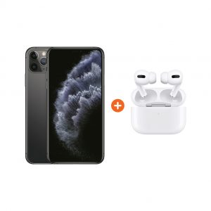 Apple iPhone 11 Pro Max 256 GB Space Gray + Apple AirPods Pro met Draadloze Oplaadcase
