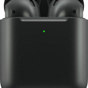 BlackPods -Draadloze Oordopjes - Mat zwart - Alternatief AirPods 2 - Draadloze oplaad case - Automatisch verbonden-Bluetooth Oortjes