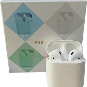 Draadloze airpods alternatief - P40MAXX - Earbuds - Earpods - Oortjes - bluetooth oordopjes - Apple - Iphone - Samsung -Android