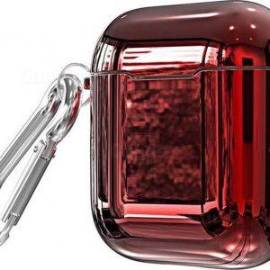 Hardcase metallic airpod hoesje - Rood