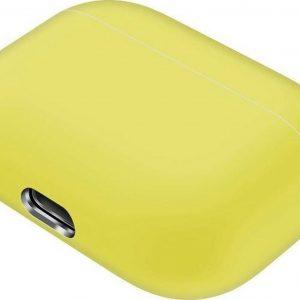 Mobigear Siliconen Cover Geel voor Apple AirPods pro