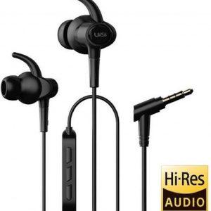 UiiSii Hi710 Hi-Res Sport in-ear oortjes - 120cm met microfoon en controller - Zwart