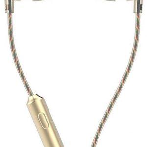 in-ear oortjes - 1.2 meter met microfoon en controller - 3.5mm - UiiSii HM7 - Goud