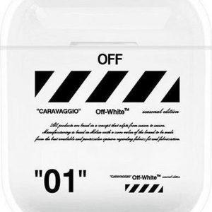"""""""01"""" Diagonal - Geschikt voor Airpods 1 & 2 - Hard Cover Case - Airpods hoesje - Airpods - Airpods case - Zwart"""