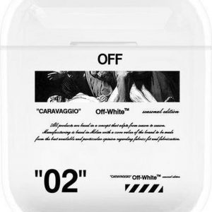 """""""02"""" Carravagio - Geschikt voor Airpods 1 & 2 - Hard Cover Case - Airpods hoesje - Airpods - Airpods case - Zwart"""