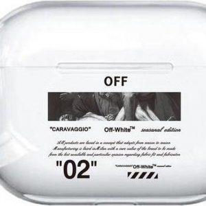 """""""02"""" Carravagio - Geschikt voor Airpods Pro - Hard Cover Case - Airpods Pro hoesje - Airpods - Airpods Pro case - Zwart"""