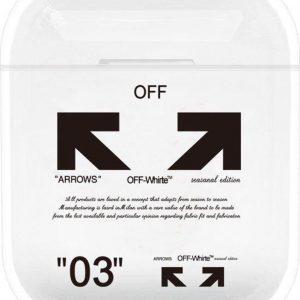 """""""03"""" Arrows - Geschikt voor Airpods 1 & 2 - Hard Cover Case - Airpods hoesje - Airpods - Airpods case - Zwart"""