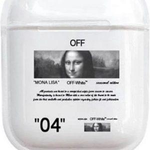 """""""04"""" Mona Lisa - Geschikt voor Airpods 1 & 2 - Hard Cover Case - Airpods hoesje - Airpods - Airpods case - Zwart"""