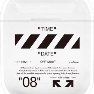 """""""08"""" Time - Geschikt voor Airpods 1 & 2 - Hard Cover Case - Airpods hoesje - Airpods - Airpods case - Zwart"""