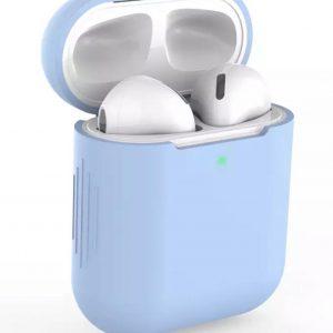 Air pod case voor Apple van Versteeg® -Blauw - Earpods - Draadloze Oortjes Case- Airpods Case - Airpods hoesje - Apple case - Apple hoesje