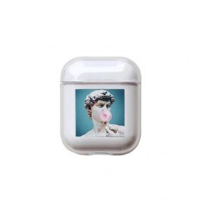 Airpods Case Hoesje voor Apple Airpods 1 en 2 - Bubblegum David - AirCase