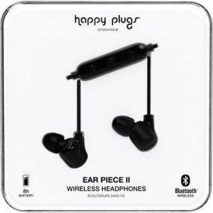 """Happy Plugs Hoofdtelefoon Bluetooth® """"Ear Piece II"""", Zwart & Zwart"""