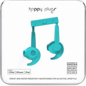 Happy Plugs Hoofdtelefoon in-ear sports MFI turquoise