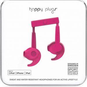 """Happy Plugs """"In-Ear Sport"""" MFI, Cerise"""