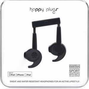 Happy Plugs Sports Mfi - In-Ear Hoofdtelefoon - Zwart