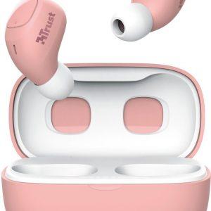 Trust Nika Compact - Volledig Draadloze Oordopjes -Bluetooth - Roze