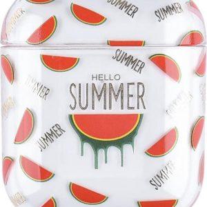 "AirPods Case ""Hello Summer Watermeloen"" - Airpods hoesje - Airpods case - Beschermhoes voor AirPods 1/2"