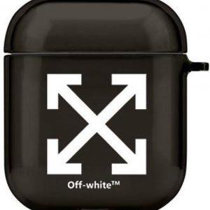 AirPods Hoesje Designer geschikt voor Off White AirPods Case - Siliconen Hoesje - Zwart Off White Case