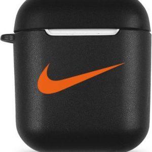 Airpods Case - Geschikt voor Airpods 1 & 2 - Silicone Case - Airpods hoesje - Airpods - Airpods case - Nike - Zwart