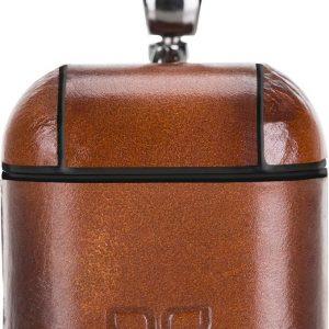 Bouletta - leder hoesje Airpod (Apple AirPods 1 en 2) - Burned Cognac