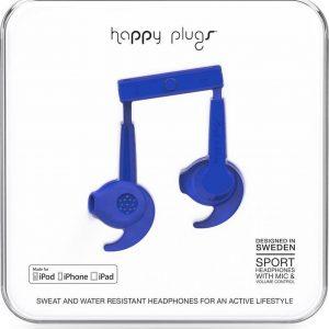Happy Plugs Hoofdtelefoon in-ear sports MFI cobalt