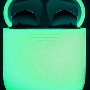 Siliconen case   geschikt voor airpods   glow in the dark