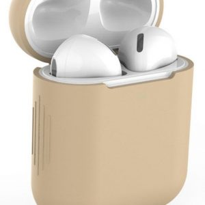 "Studio Air® Airpods Hoesje Siliconen Case - Khaki - ""Silicon Army Series"" - Airpod Hoesje geschikt voor Apple AirPods 1 en 2"