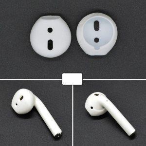 2 stuks draadloze Bluetooth koptelefoon Silicone Ear Caps afdekhoesjes voor Apple AirPods (wit)
