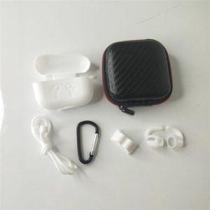 6 in 1 siliconen case met accessoires geschikt voor AirPods Pro - wit
