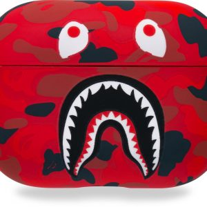 AYSM -AirPods Pro - AirPods Pro case - Hardcover Case - airpods pro hoesje - AirPods hoesje - Shark - Rood/zwart