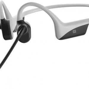 AfterShokz OpenComm - Draadloze open-ear bone conduction koptelefoon met DSP noise-cancelling boom microfoon - Licht Grijs