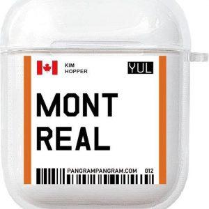 AirPods Case Cover City - Bescherm hoes - Montreal - Geschikt voor Apple AirPods 1 & 2 - gerrey.