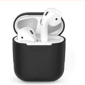 AirPods case zwart - bescherming - geschikt voor Apple AirPods 1 & 2