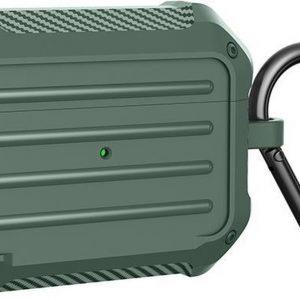 AirPods hoesje van By Qubix - AirPods Pro carbon fiber hoesje - Groen