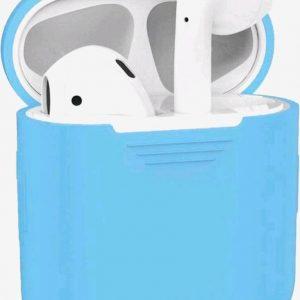 Airpods 1 & 2 Koptelefoon Hoesje Cover Case Licht Blauw