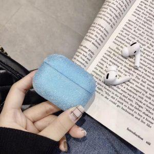 Airpods Case Cover - Glitters Blauw - Beschermhoes - Bescherm Etui - Geschikt voor Apple Airpods Pro