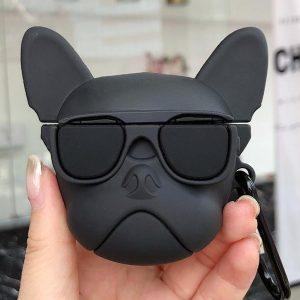 Airpods Hoesje | Airpods Case | Dieren | French Bulldog | Frenchie | Zwart