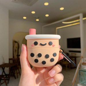 Airpods Hoesje | Airpods Case | Japanse Cartoon Kawaii Stijl Cute | Bubble Tea Smilie