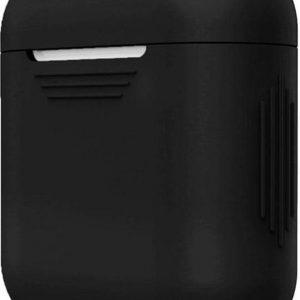 Airpods Hoesje Siliconen Case - Zwart - Airpod hoesje geschikt voor Apple AirPods 1 en Airpods 2