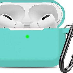 Airpods Pro Case - Siliconen Hoesje met Clip - Turquoise