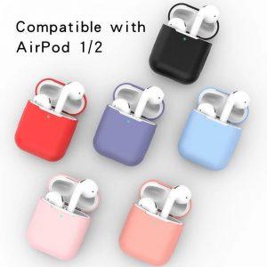 Airpods Silicone Case Cover Hoesje geschikt voor Apple Airpods 1/2