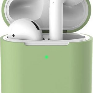Apple AirPods 1/2 Hoesje - Groen - Siliconen - Case - Cover - Soft case