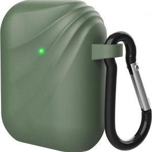 Apple AirPods Wervelwind Siliconen Hoesje Groen