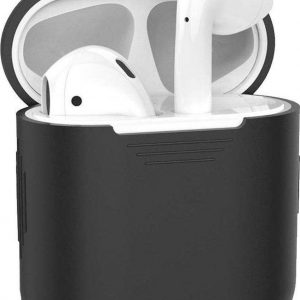 Apple Airpods Hoesje - Siliconen Case voor Airpods 1 en Airpods 2 - Zwart