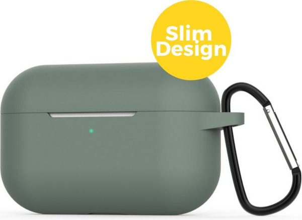 Apple Airpods Pro Siliconen Case Hoesje - Beschermhoes - Dennen Groen