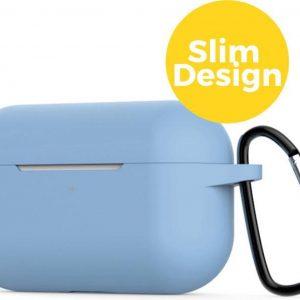 Apple Airpods Pro Siliconen Case Hoesje - Beschermhoes - Licht Blauw