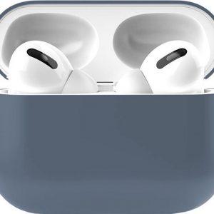 Apple Airpods Pro Siliconen - Case - Hoesje - Geschikt voor Apple Airpods Pro - Blauw